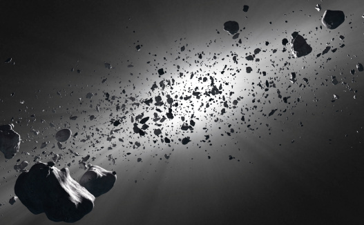 Inside the asteroid belt © Getty Images