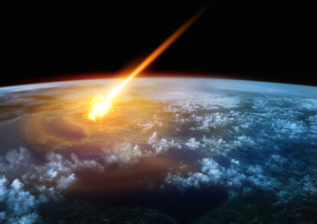 A meteorite collides with Earth © Getty images