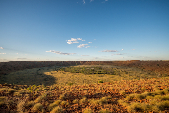 Wolfe Creek crater was caused by a meteorite. © Getty Images