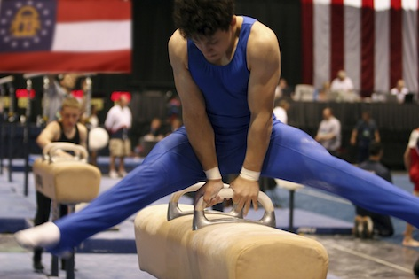 Gymnast on the pommel horse © Getty Images