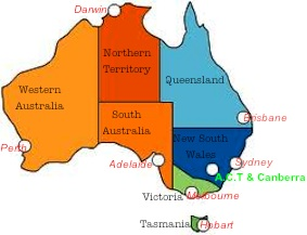 Find Hobart on this map.