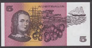 The $5 note showed Caroline Chisolm's portrait, with a background of Sydney Town, immigrant women and the ships they travelled on.