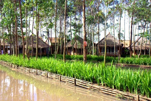 Kampung houses are made from forest materials. iStock image
