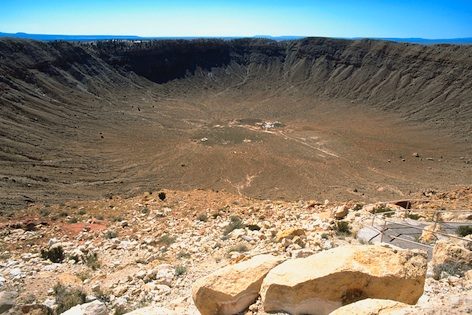 Meteor crater in Arizona, USA. ©kidcyber