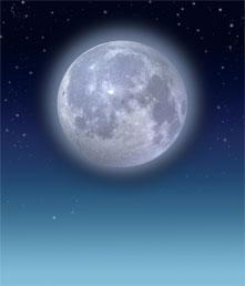 A full moon. Getty