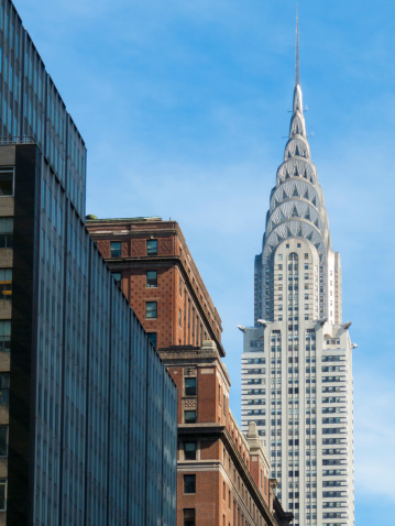 The spire of the Chrylser Building in New York is made of stainless steel. It was built in 1930. © Getty Images