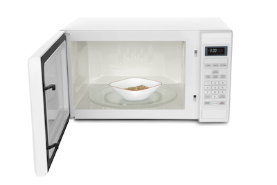 Porridge cooking in a microwave. Photo©iStock