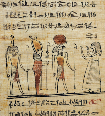 The Ancient Egyptians made papyrus over 5000 years ago. They wrote and painted onto it. © Getty Images