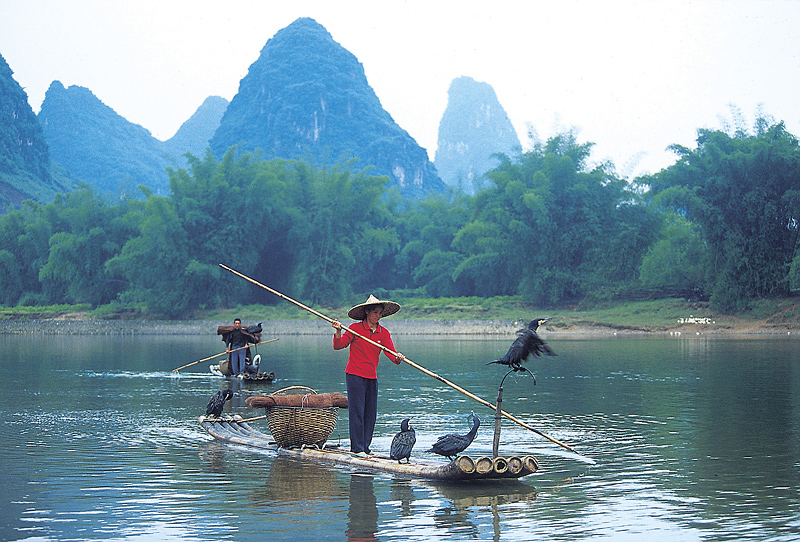 In some places, rafts are still used today, to carry people and goods across rivers and lakes. Getty Images