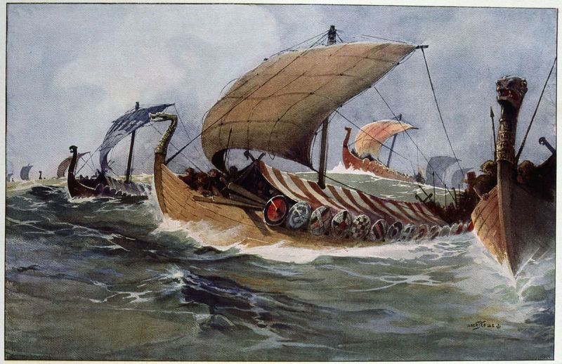 Viking longboats. Getty Images
