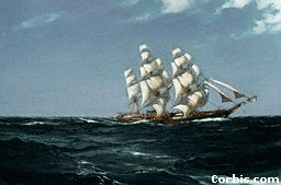 Clipper ships were faster than older style sailing ships