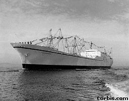 Nuclear power is used to power cargo ships in 1959