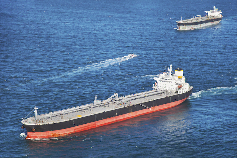 Among the largest ships ever built, these supertankers are used to transport oil.