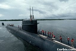 A nuclear powered submarine