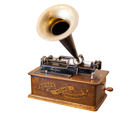 The phonograph was invented in 1877 by Thomas Edison and it was the was the first to be able to reproduce the recorded sound. © Getty images