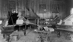 This is Edison's laboratory for experimenting with sound recordings.
