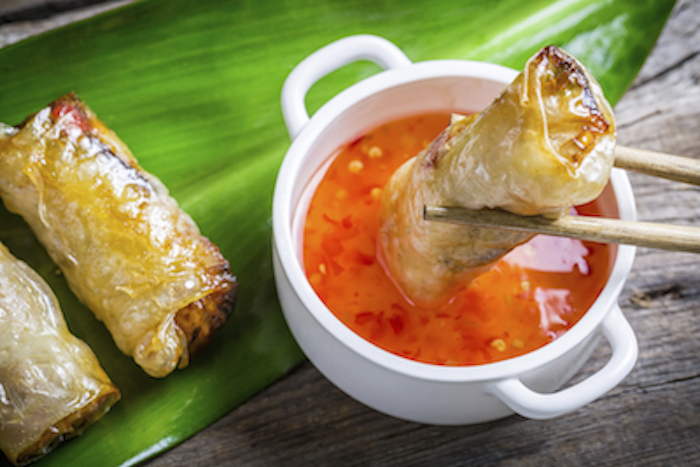 Vietnameses fried spring rolls served with a dipping sauce. Photo©Getty