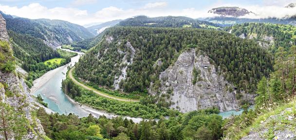 The Rhine flows through Switzerland © Getty Images