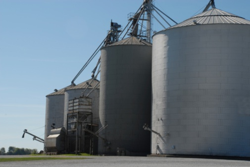 Silos are storage places for wheat until it is sold. © Getty Images