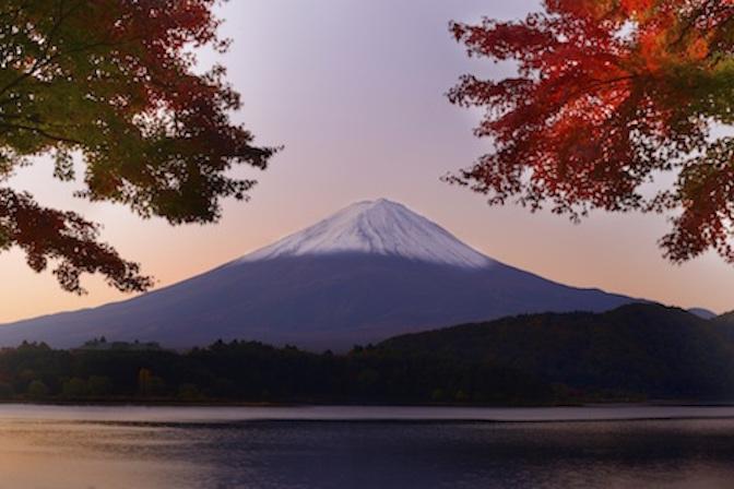 Mt Fuji at dawn. Getty Images