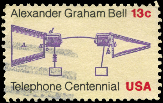 The telephone patented by Alexander Graham Bell © Getty Images