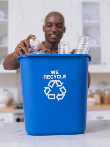 Recycled plastic can be made into new plastic. Getty Image