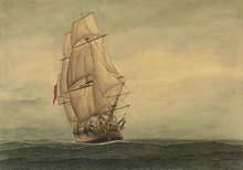 'Lady Penrhyn' one of the ships of the First Fleet