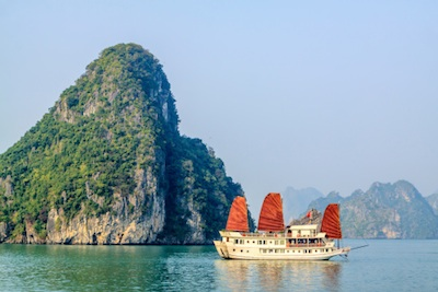 Tourist boat on Halong Bay. Photo©iStock