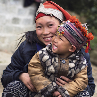 A woman and child of the Hmong group in Sa Pa, Vietnam. Photo©iStock