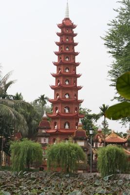 The Tran Quoc Buddhist pagoda. Image©iStock