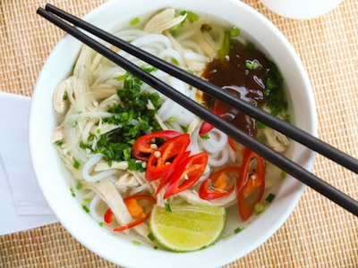 Chicken soup with noodles and vegetables. Photo©Getty