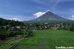Mayon volcano in the Philippines is a cone volcano