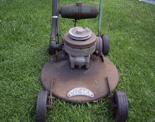 An early model Victa mower