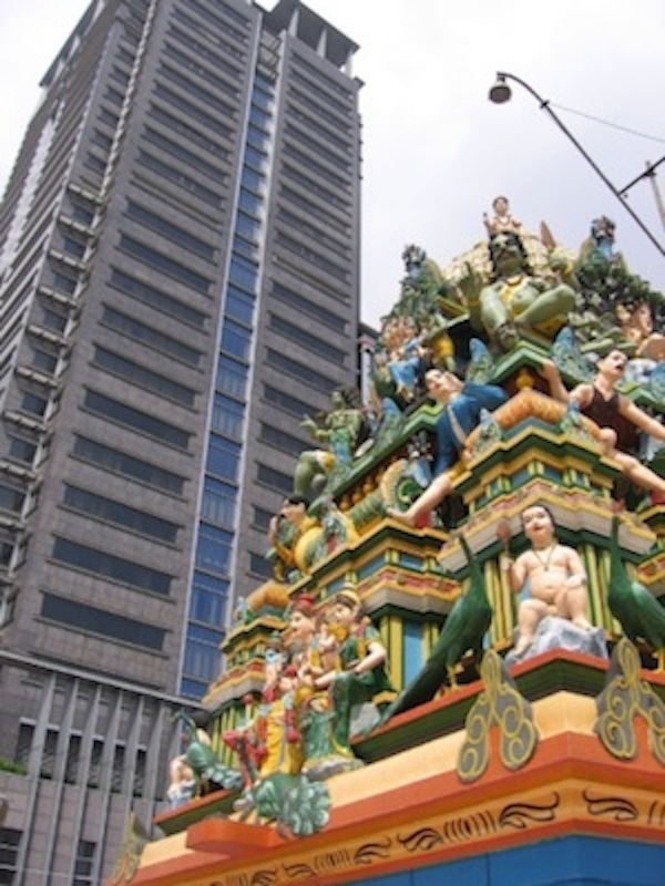 Ancient and modern, side by side in Ho Chi Minh City. The Mariamman Temple. Getty Images
