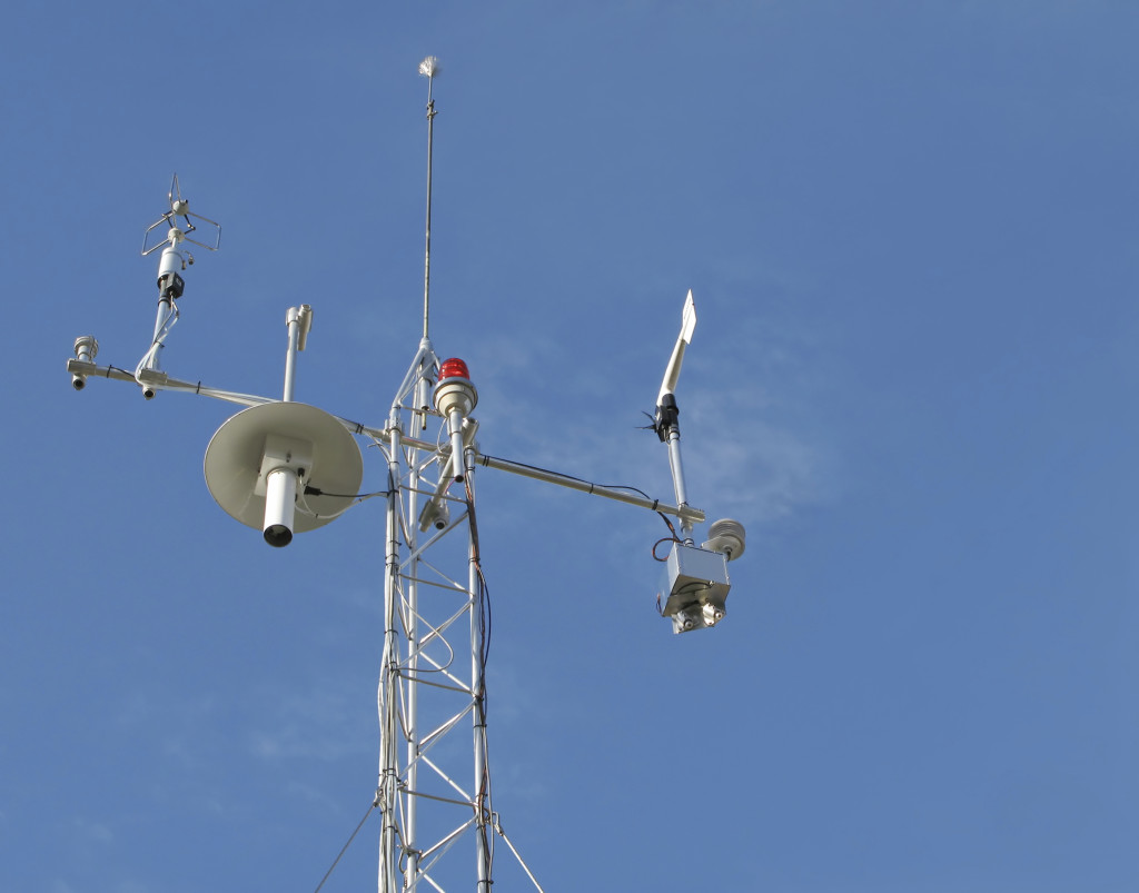 Instruments on a weather station help meteorologists forecast the weather. iStock
