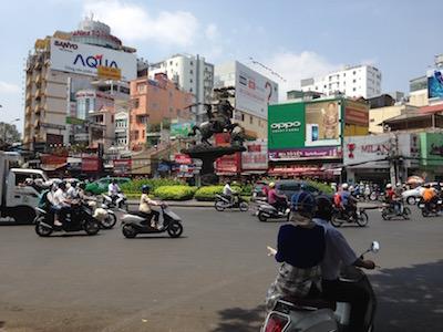 Busy Hanoi street. Image©kidcyber