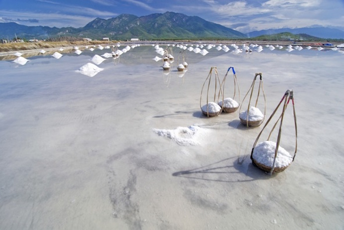 A salt farm in Vietnam. Getty Images
