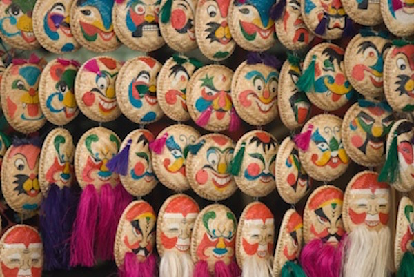 Festival masks for sale. Image©iStock