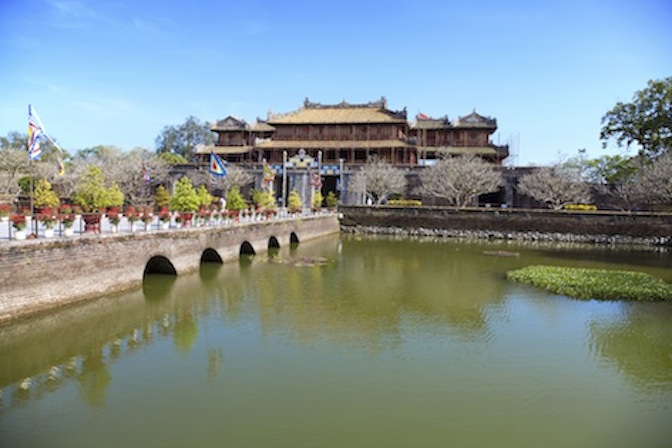 The moat and one of the bridges, the Citadel, Hue. Photo©kidcyber