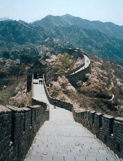 Thousands of tourists visit parts of the Great wall every year. (kidcyber)