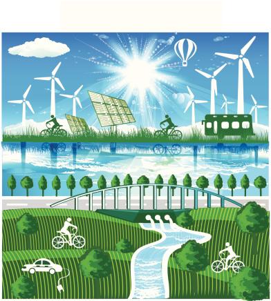 Using renewable energy is part of sustainable living. iStock