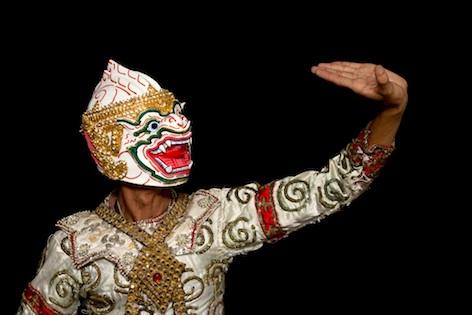 Khon dancer wearing a demon mask. iPhotos.com