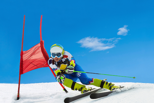 Slalom skiers must make turns around close together 'gates' © Getty Images