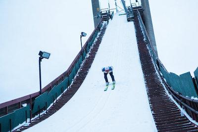 Skier on a ski jump. © Image from http://imasportsphile.com/category/olympics/