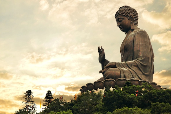 A giant statue of the Buddha in Hong Kong. Getty Images
