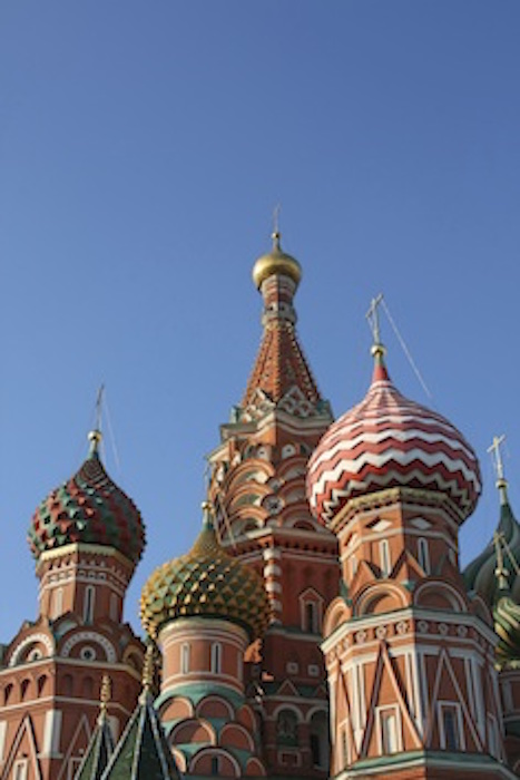 Russian cathedrals are famous for their very decorative 'onion' roofs. ©Getty Images