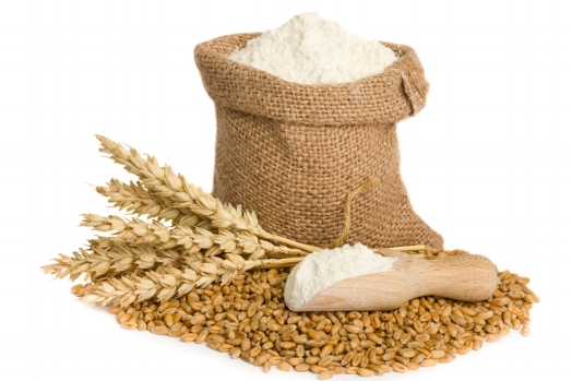 Grains of wheat are crushed to make flour © iStock/ Getty images