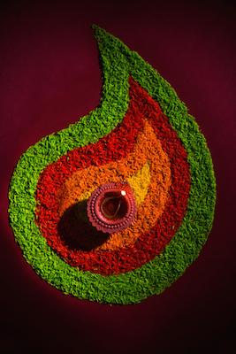 A rangoli pattern ©Getty Images