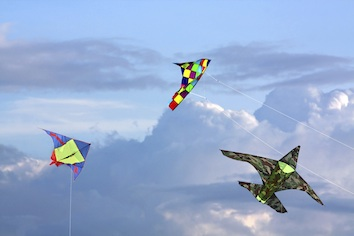A kite fight in progress. Photo©Getty