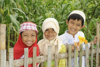 Some Indonesian children dressed for Eid prayers. ©iStock